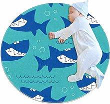 Haminaya Round kids rug round carpet circular rug