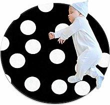 Haminaya Round kids rug round carpet Non slip