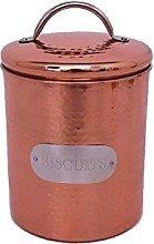 Hammered Copper Metal Kitchen Food Storage Tin