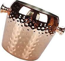 Hammered Copper Stainless Steel Metal Wine Party