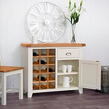 Hampshire Ivory Painted Oak Small Sideboard Wine