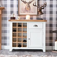 Hampshire White Painted Oak Small Sideboard Wine