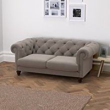 Hampstead 2 Seater Velvet Sofa, Silver Grey
