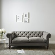 Hampstead 3 Seater Sofa Cotton, Grey Cotton, One