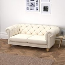 Hampstead 3 Seater Sofa Cotton, Pearl Cotton, One