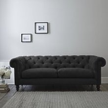 Hampstead 3 Seater Sofa Wool, Granite, One Size