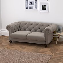 Hampstead 3 Seater Velvet Sofa, Silver Grey