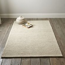Hampton Looped Wool Rug, Ivory, Large