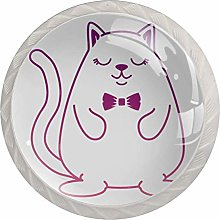 Hamster with Bowntie Kawaii Character Set of 4