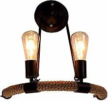 Hancoc Loft Vintage Rope Wall Lamp Antique Retro