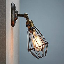 Hancoc Wall Lamp System Iron Vintage On Cage Style