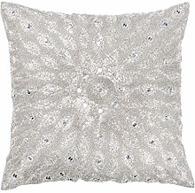 Hand Beaded Decorative Pillow Cover, Cushion