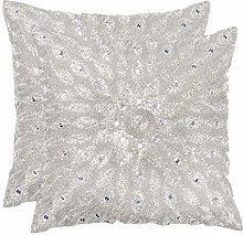Hand Beaded Decorative Pillow Cover, Handwoven