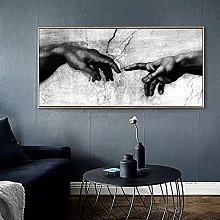 Hand Canvas Painting Print on Canavs Wall Art