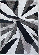Hand Carved Shatter Black Grey 200x290cm
