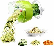 Hand Held Spiralizer Vegetable Slicer, 4 in 1