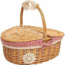Hand Made Wicker Basket Wicker Camping Picnic