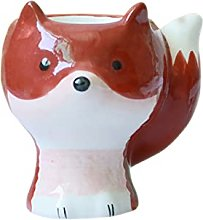 Hand Mixer Ceramic Egg Cup Creative Red Squirrel