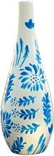 Hand Painted Ceramic Oil Bottle Jardin Bleu