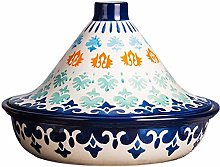 Hand Painted Natural Tagine Pot, Ceramic Pots for
