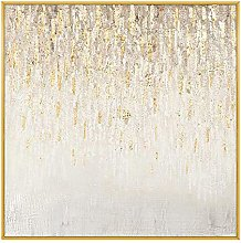 Hand-painted oil painting - Light Gold Stars