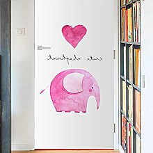 Hand-Painted Pink Elephant Simulation Animal Door