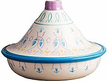 Hand Painted Tagine Cooking Pot with Lid, Lead