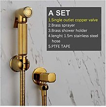 Hand Toilet Sprayer Titanium Gold Copper Faucet