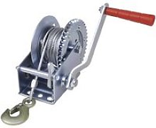 Hand Winch 544 kg - Silver - Vidaxl