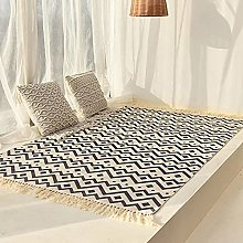 Hand Woven Cotton Tassel Rugs,Cotton And Linen
