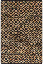 Hand-Woven Jute Area Rug Fabric 120x180 cm Natural