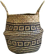 Hand-woven Storage Basket with Handles Seagrass