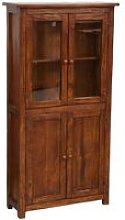 Handcrafted solid wood linden display hutch