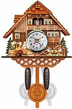 Handcrafted Wood Cuckoo Wall Clock for Home Kids