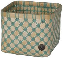 Handed By - Bamboo Mini Basket Stone Green Medium