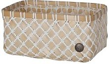 Handed By - Bamboolastic Basket Small White - dark