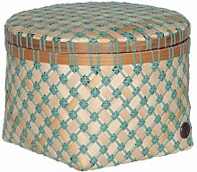 Handed By - Bamboolastic Basket with Lid - Large -