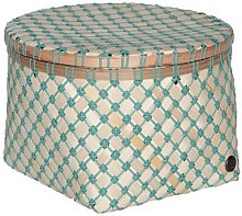 Handed By - Bamboolastic Basket with Lid - Medium