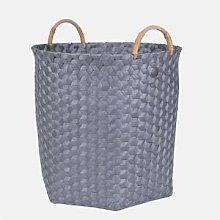 Handed By - Dimensional Handle Basket L Dark Grey