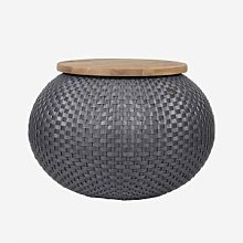 Handed By - Halo Storage Basket Table Seat Dark