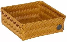 Handed By - Storage Basket Ochre Yellow Square 18