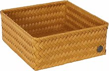 Handed By - Storage Basket Ochre Yellow Square 24