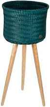 Handed By - Up High Plant Basket Blue Green