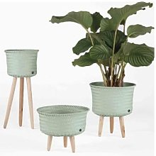 Handed By - Up Low Basket Green Grey