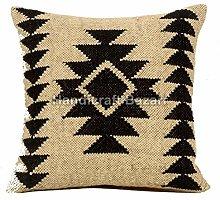 Handicraft Bazarr Jute Pillow Case Throw Kilim