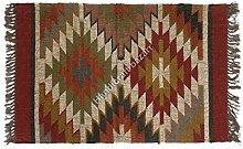 Handicraft Bazarr Large Area Rug Wool Jute Rug
