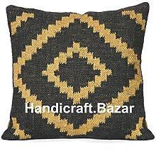 Handicraft Bazarr Throw Pillow Case Handwoven