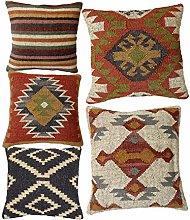 Handicraft Bazarr Throw Pillow Case Jute Cushion