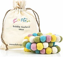 Handmade Biodegradable Felt Easter Bubble Garland