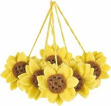 Handmade Biodegradable Hanging Sunflowers (Bag of